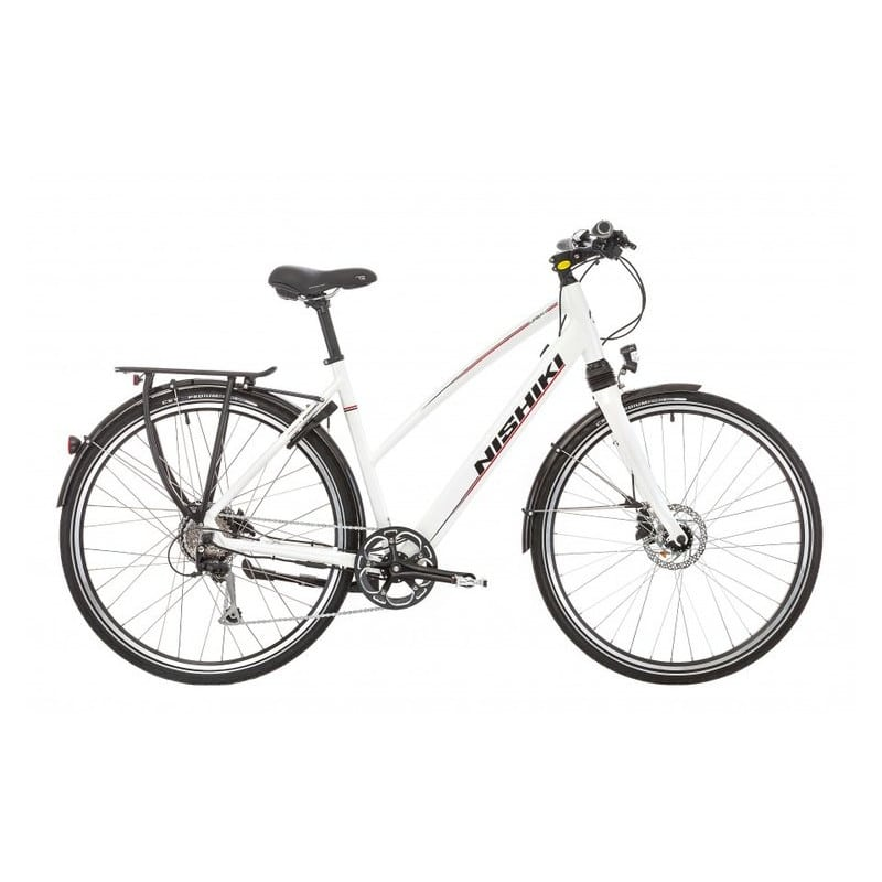 Nishiki Urban Dame Elcykel hvid 9 gear