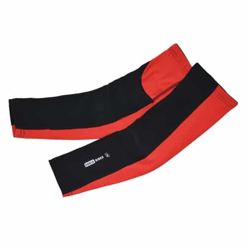 Dania Bikes armvarmer i rød/sort