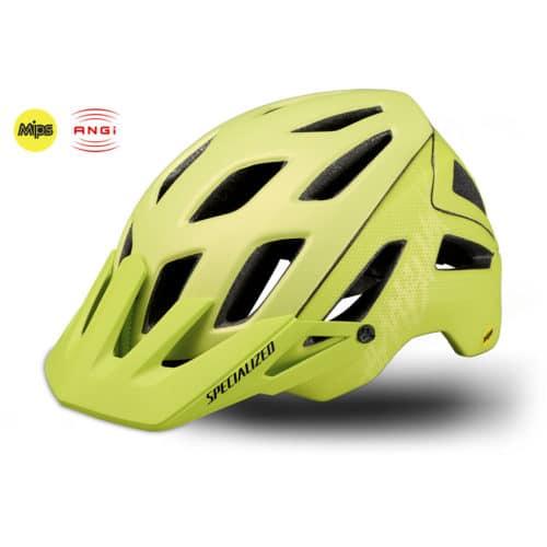 Specialized Ambush cykelhjelm med MIPS og ANGi gul web