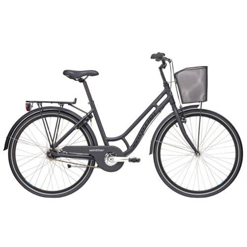 Black Winther 250 Alu Granny Cykel Dame Lav indstigning